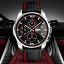 Men's Fashion Sport Dial Chrono Date Leather Strap Quartz Watch