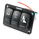 Buy 3 Gang Waterproof Marine Boat Caravan Led Rocker Switch Panel Circuit Breaker