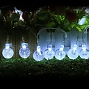 kung ro 50led xmas kristallkula dekorativa sträng ljus (kl0046-rgb, vit, varmvit)