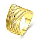 Buy Ring AAA Cubic Zirconia Fashion Classic European Gold Plated Rose 18K gold Simulated Diamond Jewelry ForWedding