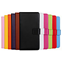 Solid Color Genuine Leather Full Body Case with Stand and Card Slot for Samsung Galaxy J5 (Assorted Colors)