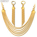 Buy Luxury Chains Necklace Long Tassel Earring Jewelry Set 18k Gold Plated Chain Earrings Bridal Gift NB60078