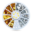 Buy 1wheel Gold Silver Metal Studs 3d Nail Art Decorations