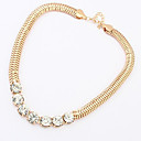 Buy Women's Chain Necklaces Simulated Diamond Alloy Punk Black Silver Golden Jewelry Party Daily Casual 1pc