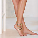 Buy Women's Vintage Beach Metal Punk Gold Leaves Multilayer Tassel Chain Anklets Daily / Casual 1pc