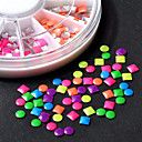 Buy Fashion DIY 6 Colors 2-3mm Neon Rivet Round Square Metallic Studs Rhinestone 3d Nail Art Decoration
