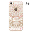 Colorful Flower Painted Pattern Slim Plastic Back Hard Case For iPhone 5S 4.0