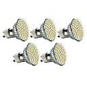5 Stück LED Spot Lampen MR16 GU10 3W 240 LM 2700K K 60 SMD 3528 Warmes Weiß AC 220-240 V