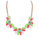 Buy Women's Pendant Necklaces Resin Alloy Simple Style Fashion Beige Red Green Rainbow White/Black Jewelry Wedding Party Daily Casual 1pc