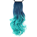 Buy Excellent Quality Synthetic 18 Inch Long Wavy Gradient Ribbon Ponytail Hairpiece - 8 Colors Available