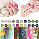 Buy 20 Sheet Mix Color Transfer Foil Nail Art Flower Design Sticker Decal Polish Care DIY