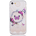 Buy TPU Material Butterfly Flower Pattern Painted Relief Phone Case iPhone 7 Plus/7/6s Plus / 6 Plus/6S/6/SE 5s 5