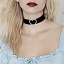 Buy Women's Choker Necklaces Tattoo Statement Simulated Diamond Alloy HeartTattoo Style Fashion Jewelry Simple