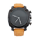 Buy Men's Fashion Watch / Quartz Japanese Leather Band Vintage Casual Brown