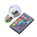 Buy 3W RGB E27 Bulb Lamp / Remote Control Colorful LED Bulb(AC 85-265V)