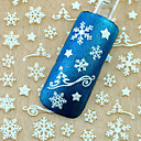 Buy Christmas 3d Glitter Nail Art Stickers Winter Manicure Nails Decals Foil Decorations Tool Snowflake Design