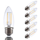 Buy 2W E26 LED Filament Bulbs B10 2 COB 200 lm Warm White Dimmable 120V