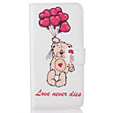Buy Samsung Galaxy S5 S6 S7 S6edge S7edge Card Holder Flip Color Bear Pattern Case Full Body Hard PU Leather