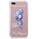 Buy iPhone 7 Plus 6s 6 6S SE 5s 5 TPU Material Blue Bear Pattern Wave Non-Slip Painting Phone Case
