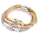 Buy 2016 New Fashion Bracelets Bangles Jewelry Gold Silver Chain Bracelet Round Hollow Charm Women Christmas Gifts