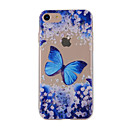 Buy iPhone 7 7plus 6S 6plus Case Cover Blue Butterfly Painted Pattern TPU Material Phone