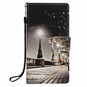 Buy Huawei P9 lite P8 City Scenery Painting PU Phone Case