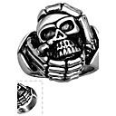 Buy Men Punk Skull Shape Fashion Wind Restoring Ancient Ways Titanium Steel Ring Halloween Gifts
