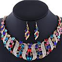 Buy Women's Jewelry Set Earrings Statement Necklaces Luxury Costume Gemstone Rhinestone Rose Gold Plated Imitation Diamond Alloy