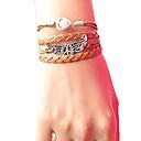 Buy Women's Peace Wing Pearl Braided Bracelet inspirational bracelets Jewelry Christmas Gifts