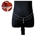 Buy Women's Body Jewelry Belly Chain Alloy Unique Design Fashion Sexy Silver Daily Casual Christmas Gifts 1pc