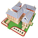 Buy Jigsaw Puzzles DIY KIT Building Blocks 3D Educational Wooden Wanfang Anhe Temple Toys Square Famous