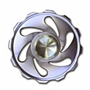 Buy Hand spinner Graphic Metal Finish