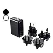 Carregador de viagem USB com adaptadores UE / EUA / Reino Unido / AU plug para Samsung Galaxy S3 I9300 e outros