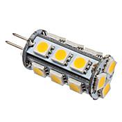 Lampadina LED a pannocchia, luce calda/bianca G4 2.5W 18x5050 SMD 180-200LM 2800-3200K (12V)