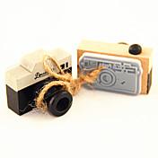 빈티지 카메라 패턴 나무 스탬프 (임의의 색)