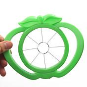 사과 모양의 플라스틱 쉬운 과일 슬라이서 커터 도구 (임의의 색)