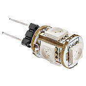 G4 1W 5x5050SMD 65-75LM 노란 빛 LED 옥수수 전구 (12V)