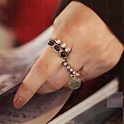 여성 문자 반지 고급 보석 의상 보석 보석 합금 보석류 제품 파티 일상
