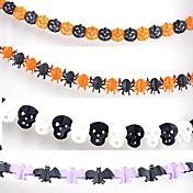 Halloween guirnalda para bares de papel accesorios de decoración (3 metros 4pcs)