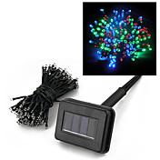 22M Solar Power 200 Multicolor LED hadas de cadenas ligeras de la lámpara del partido de Navidad de la boda Decoración de Jardín
