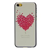 Diseñado globo en forma de corazón caja dura Fresh Rose Patrón para iPhone 5C