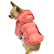 Perros Abrigos / Saco y Capucha Rosado Ropa para Perro Invierno Un Color