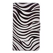 Cebra-Raya Dibujo patrón PU cuero plástico duro de la contraportada bolsas para Samsung Galaxy Nota 3 N9000