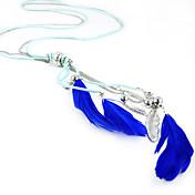 푸른 깃털 목걸이 사파이어