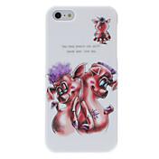Para Funda iPhone 5 Diseños Funda Cubierta Trasera Funda Animal Dura Policarbonato iPhone SE/5s/5