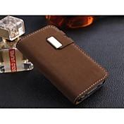 Custodia in pelle linee speciali dell'unità di elaborazione con slot per schede e supporto per iPhone4/4S