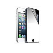 거울 두꺼운 표지의 전면 및 아이폰 5/5S를위한 청소 피복을 가진 뒤 스크린 보호자