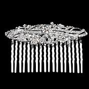 여성용 라인석 합금 투구-결혼식 특별한 때 머리 빗