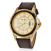 CURREN Hombre Reloj de Pulsera Cuarzo Cuarzo Japonés Calendario Piel Banda Negro Marrón Marrón Negro/Café Negro Oro/Negro Marrón-Oro