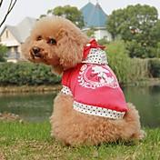 Perros Abrigos Azul / Rosa Ropa para Perro Primavera/Otoño Letra y Número / Lunares